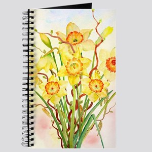 Watercolor Daffodils Yellow Spring Flowers Journal