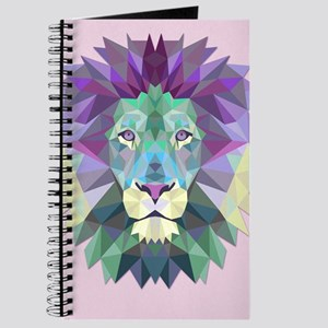 Triangle Colorful Lion Head Journal