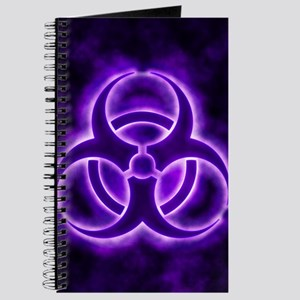 Purple Biohazard Symbol Journal