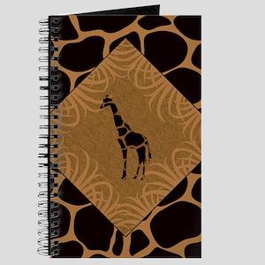 Giraffe with Animal Print Journal