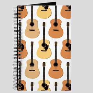Acoustic Guitars Pattern Journal