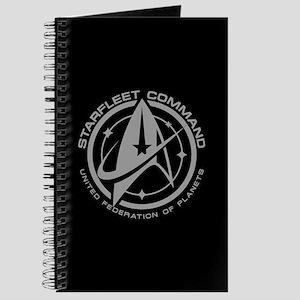 Grey Starfleet Command Emblem Journal