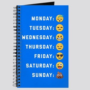 Emoji Days of the Week Journal