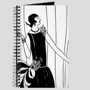 1920s vintage flappers black white drawing Journal
