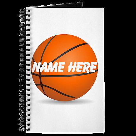 Customizable Basketball Ball Journal