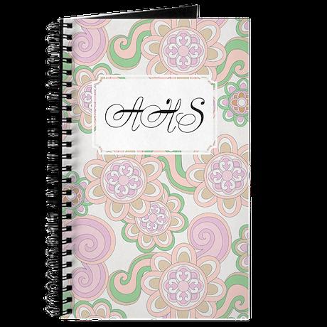 Flower Retro Green Lilac Journal