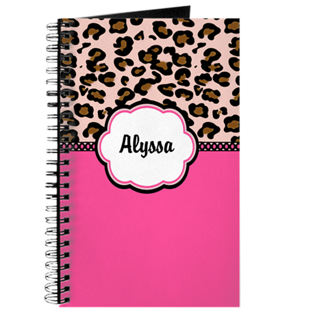 Leopard Print Pink Personalized Journal