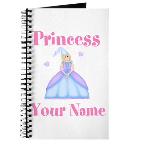 Blond Princess Personalized Journal