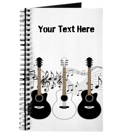 Black And White Acoustic Guitars Journal