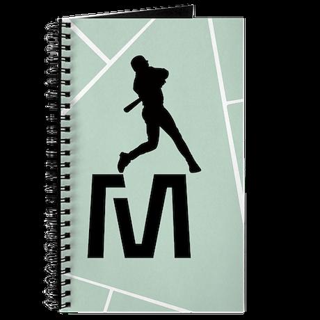 Mint Green Black Baseball Hobby Logo Journal