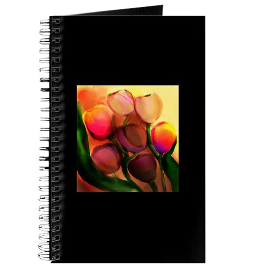 rainbow tulips journal