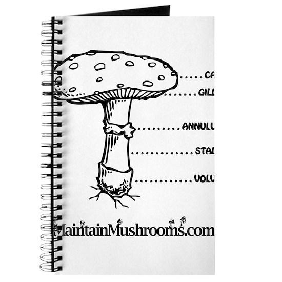 diagram of a mushroom mushroom diagram journal by maintain mushrooms cafepress diagram of a typical mushroom mushroom diagram journal by maintain