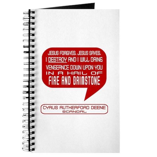 Cyrus Beene Fire & Brimstone Scandal Journal