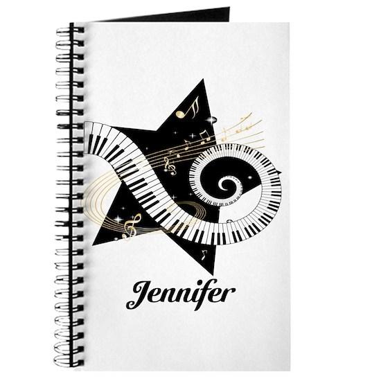 Music star gold black Journal