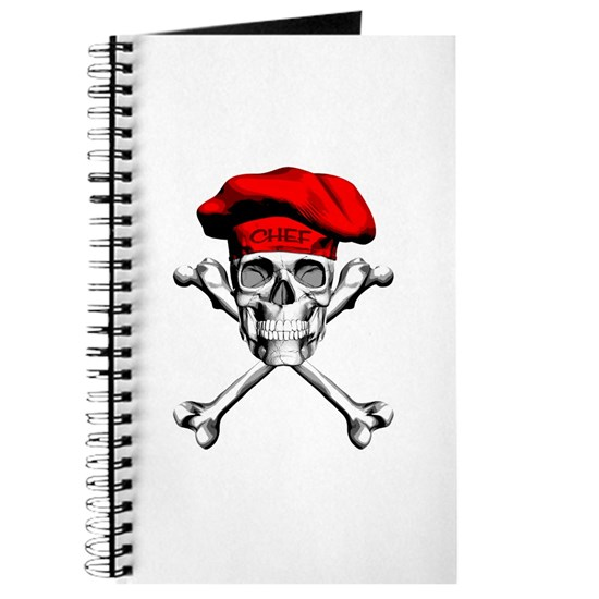 Red Culinary Chef Skull