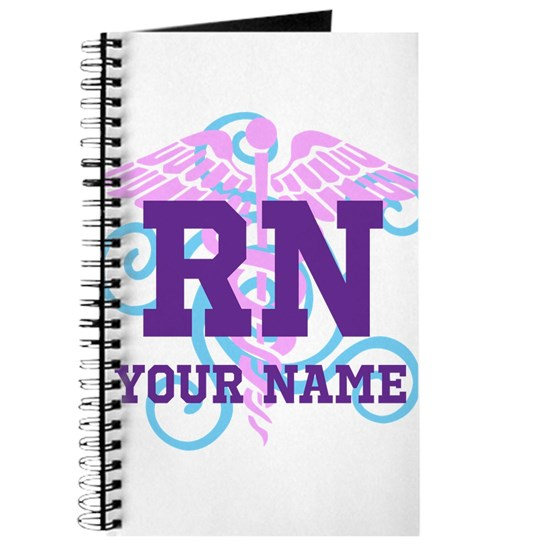 RN swirl with personalized name