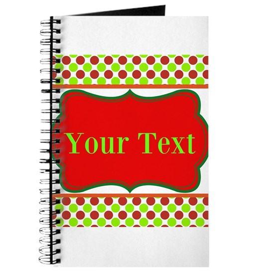 Personalizable Red and Green Polka Dots