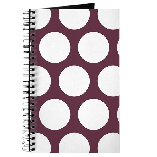 Polka Dots (Large): Burgundy Red