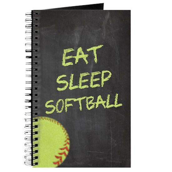 Chalkboard Eat Sleep Softball
