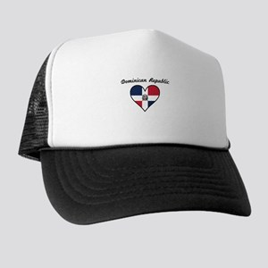 Dominican Republic Flag Heart Trucker Hat