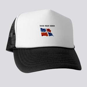 Custom Dominican Republic Flag Trucker Hat