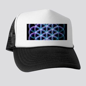 Flower of Life Mandala Trucker Hat