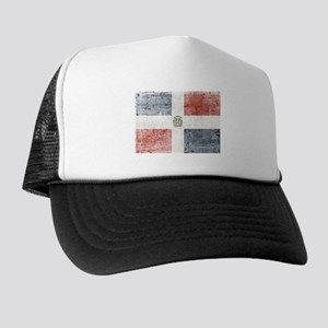 Dominican Republic Distressed Flag Trucker Hat