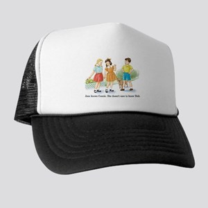 Jane Knows Connie She... Lesb Trucker Hat