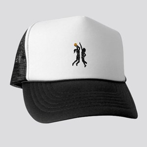 Distressed Basketball Players Trucker Hat