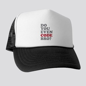 Do You Even Code Bro Trucker Hat
