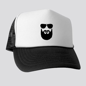 a3bf9c7c24c Full beard sunglasses Trucker Hat