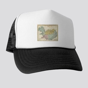 Vintage Map of Iceland (1761) Trucker Hat