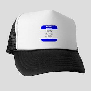 Custom Blue Name Tag Hat