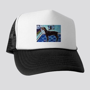 DOBERMAN PINSCHER art Trucker Hat