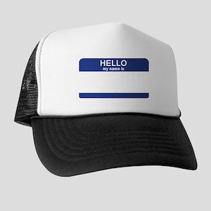 Hello my name is Blank Trucker Hat