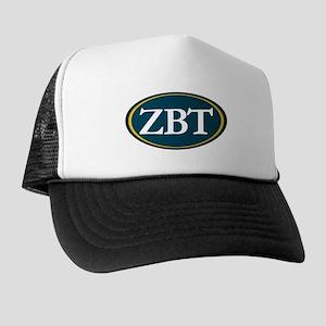 Zeta Beta Tau Fraternity Letters in Wh Trucker Hat