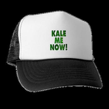 a253d0e3d8437 Kale Me Now Trucker Hat   Kale Me Now T-shirts and Accessories   Big City  Vegan