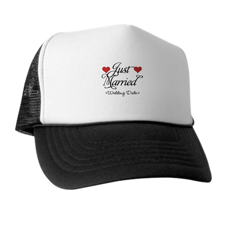 Just Marrried (Add Wedding Date) Trucker Hat
