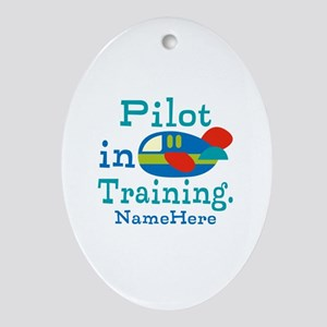 Personalized Pilot in Training Ornament (Oval)