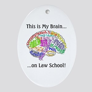 This is my Brain...Law School Oval Ornament