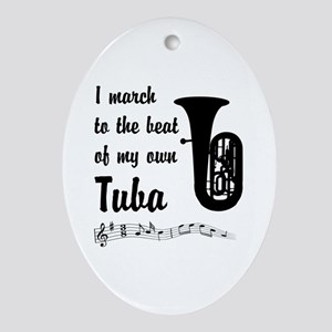 March to the Beat: Tuba Ornament (Oval)