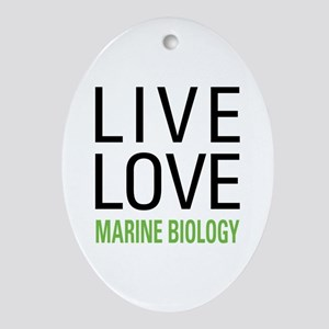 Marine Biology Ornament (Oval)