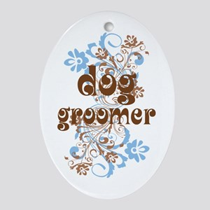 Dog Groomer Gift Ornament (Oval)
