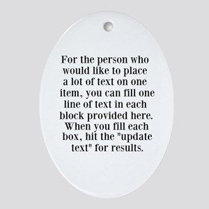 Lines of Text to Personalize Ornament (Oval)