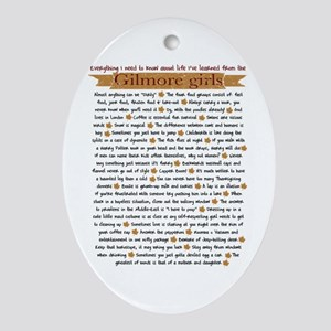 Gilmore Girls Life Lessons Ornament (Oval)