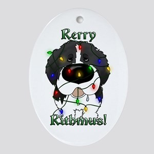 Newfie - Rerry Rithmus Ornament (Oval)