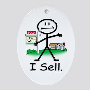 Realtor Oval Ornament