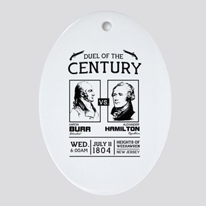 Burr-Hamilton Duel of the Century Oval Ornament