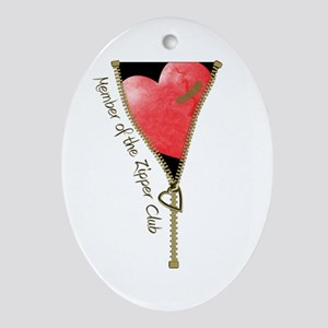 Zipper Design 2 Ornament (Oval)