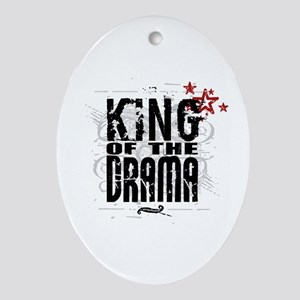 King of the Drama Oval Ornament